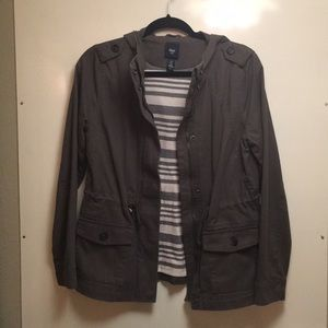 GAP Dark Grey Utility Jacket Madewell